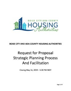 BCACHA Strategic Planning RFP | Boise City/Ada County Housing